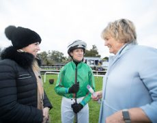 Kate Harrington, Jessica O'Gara and Jessica Harrington before the final leg of the Corinthian Challenge Charity Race Series.